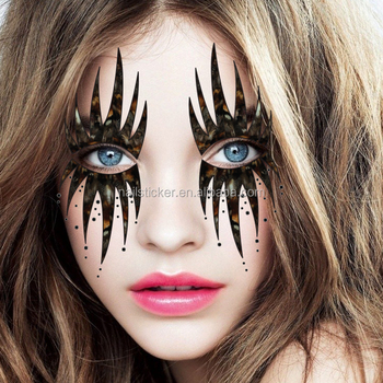 Custom Halloween Clown Temporary Rhinestone Makeup Face Tattoos Day ...