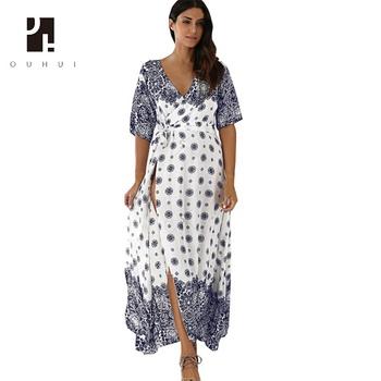 mujer vestidos playa de de largos de con elegantes lujo Vestidos Nueva occidental diseño para modelo qfx0F6nEw