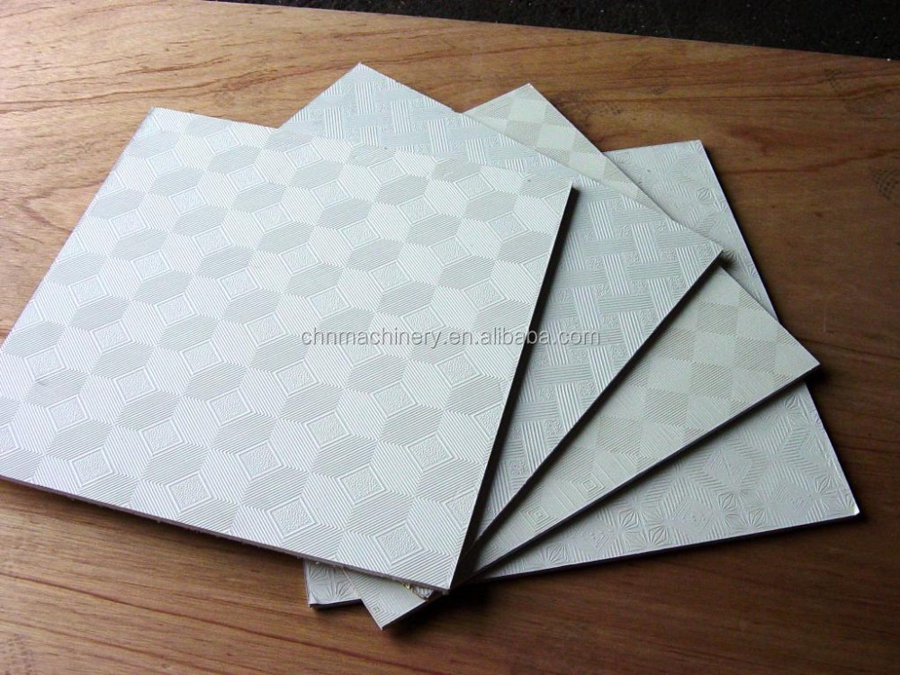 Foil Backed Gypsum Board : Pvc faced aluminum foil backed gypsum ceiling tile