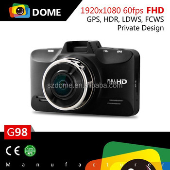 G98 Ambarella A7LA70 chipset 1296p Car dvr camera with HDR,LDWS,FCWS and GPS