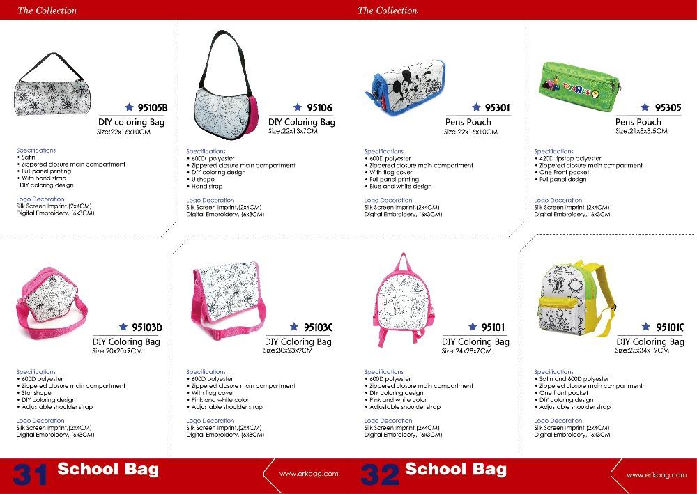 Anak Diy Mewarnai Gambar Tas Sekolah Tote Buy Product