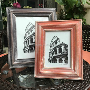 ashblack 8x10 Distressed Barnwood Frame , rustic Gallery Wall Frame set, colosseum Tabletop Chic Frame 20x25cm