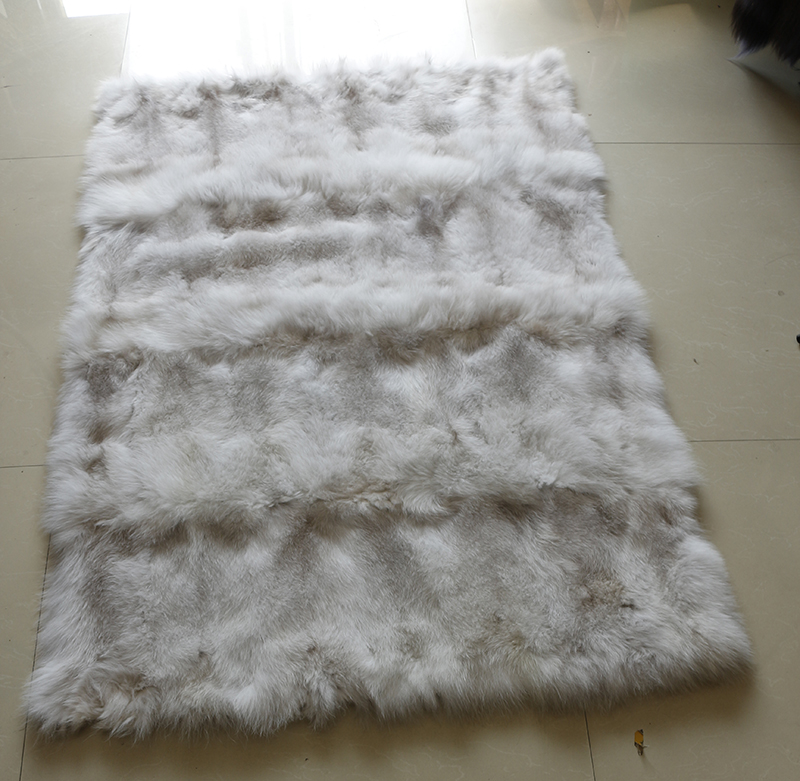 150 X 100 cm Soft plush real blue fox fur blanket for <strong>babies</strong>