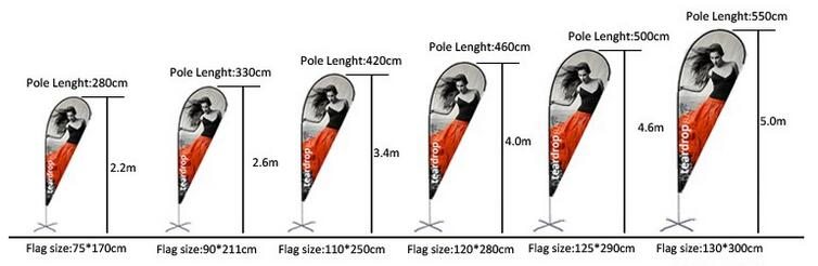 Outdoor advertising beach wind swooper feather flag with Pole + Base