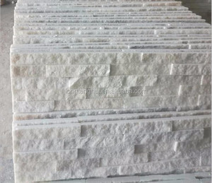 Decorative pure white Quartz Slate Stacked Stone culture stone