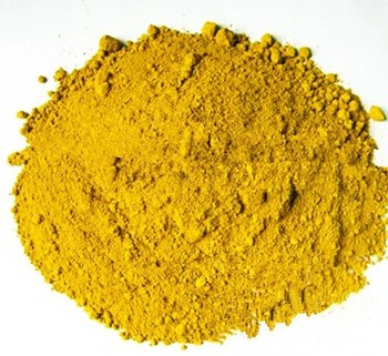 Synthetic iron oxide pigment yellow concrete stain colors