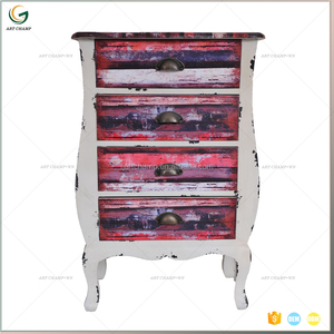 White Wooden Fashion Design Liquor Cabinet With Plastic Sticker