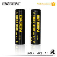High drain 8650 rechargeable battery imr 18650 3.7v 3100mah li-ion battery 30a for vape cigar & electronic cigarette for sale