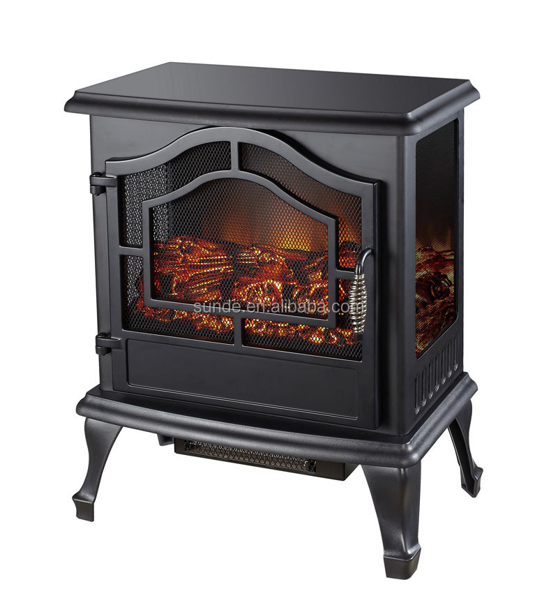 Fireplace Design fireplace heater : 3 Sides Glass View Compact Electric Fireplace Heater/stove Heater ...