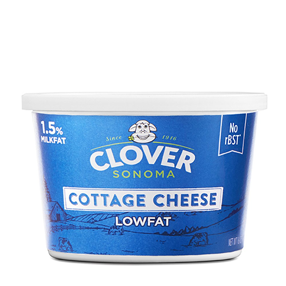 Clover Sonoma, Lowfat Cottage Cheese, 16 oz