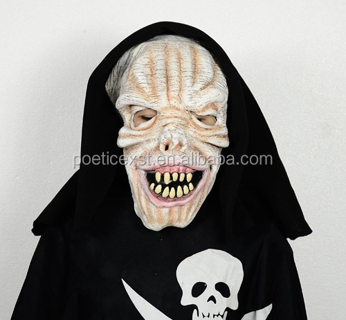 Halloween party supplies Eco-friendly latex ghost mask Scary Full head skull mask