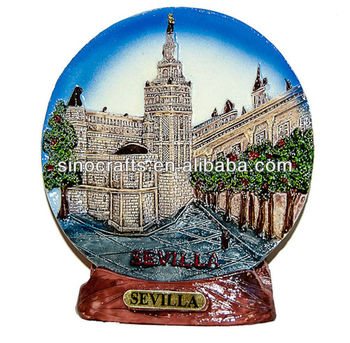 custom ceramic souvenir 3D plate Spain. Sevilla (Diameter 10 cm Undetachable Stand)  sc 1 st  Alibaba & Custom Ceramic Souvenir 3d Plate Spain. Sevilla (diameter 10 Cm ...
