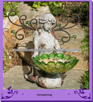 resin fairy garden miniatures with bird feeder - Fairy Garden Miniatures