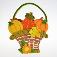 Packing Gift Easter Themed Felt Fabric Carry Hedgehog Squirrel Owl Patten Storage Bag Basket