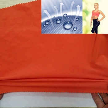 woven polyester lycra 130gsm 4 way stretch spandex fabric with quick dry wicking comfortable for t-shirt pants run wear