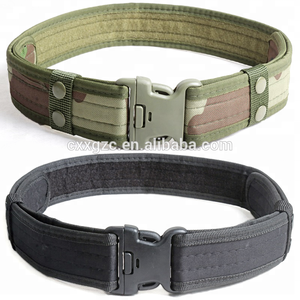 Adjustable Tactical Belt Army Military Combat Police Duty Nylon Material Plastic Buckle Belt