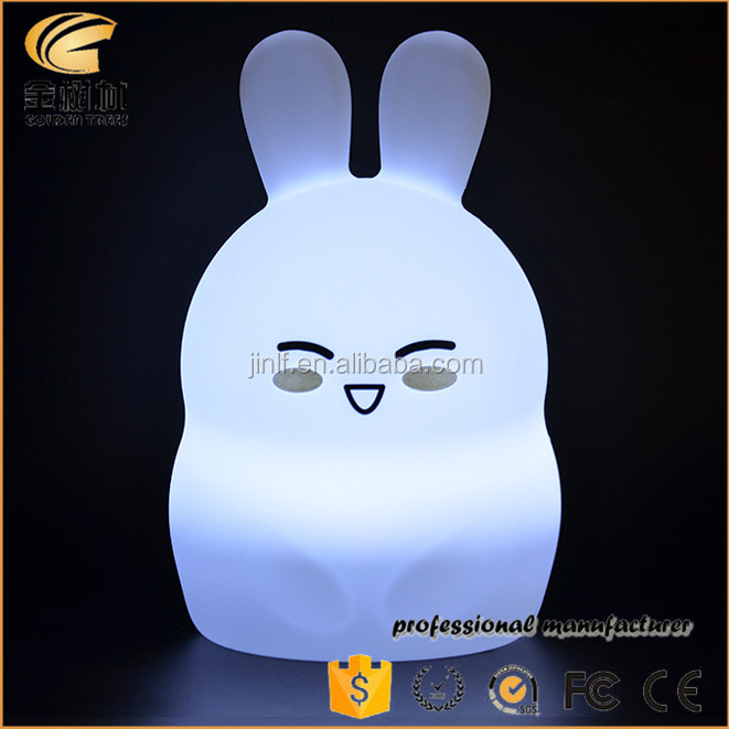 7-color changeable night light rabbit silicone led night light