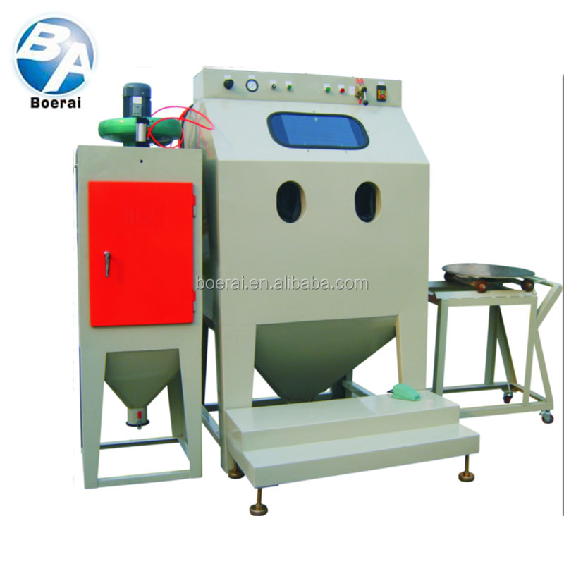 Trolley type sand blasting machine-the art of powerful cleaning for workpieces
