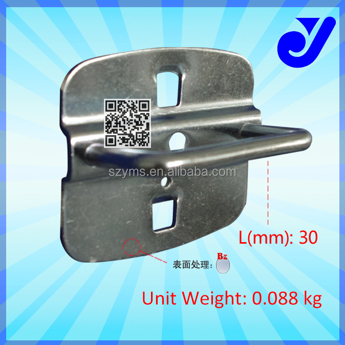 G-708|U-shaped metal hook for pliers hanging|Square hole hook for various tools