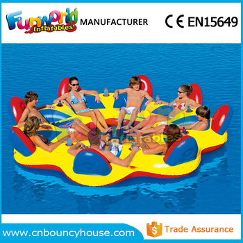Inflatable Water Party Island Float