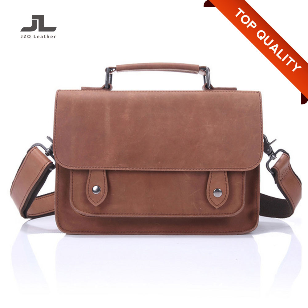 Custom Fashion Men Genuine Leather Shoulder Sling Bag for Cement