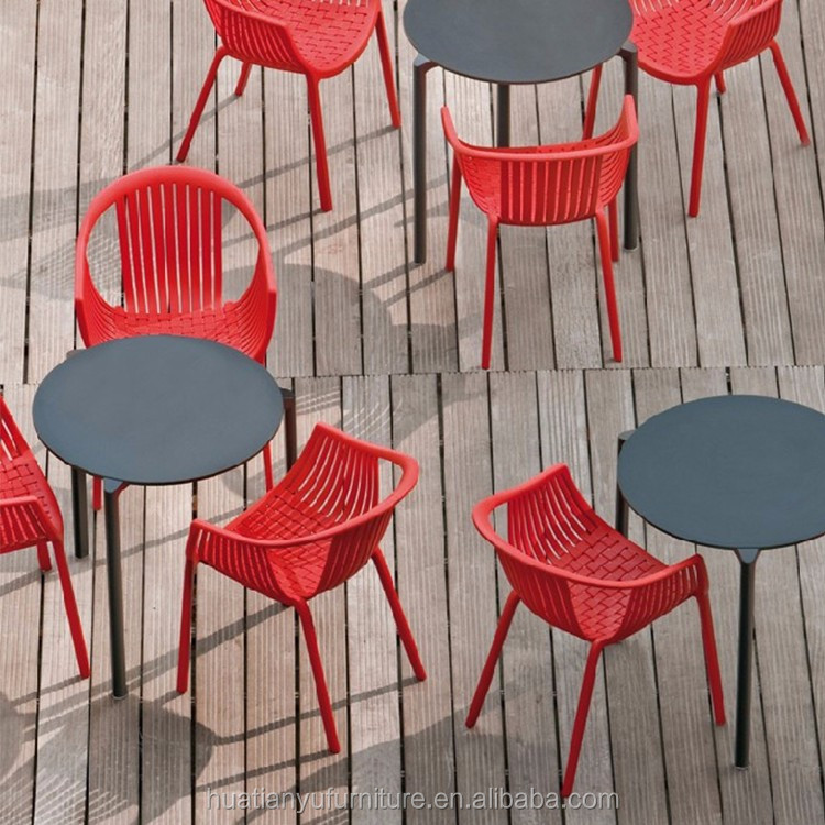 Plastic Covers For Dining Room Chairs: Outdoor Dining Room Furniture Restaurant Colorful Woven