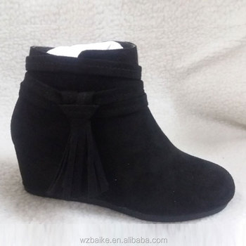 aaab1ca1f5 China High Quality Ladies Wedge Micro Suede Chunky Heel Flat Ankle Boots -  Buy Ladies Suede Flat Boots,Wedge Suede Ankle Boots,Chunky Heel Ankle Boots  ...