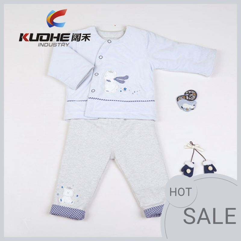 Baby Girls Long Sleeves Cotton Child Wear Pajamas Suit