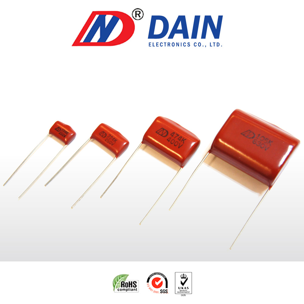 Metallized polyester film induction heater ghc 100v 250v capacitor jh