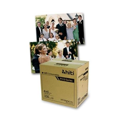 "HiTi Digital Inc. HiTi P510 4x6 Ribbon & Paper Case, for Total of 660 4x6"" Prints"