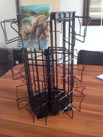Spinning Tabletop Rotating Metal Wire Countertop Gift Card Display Stand