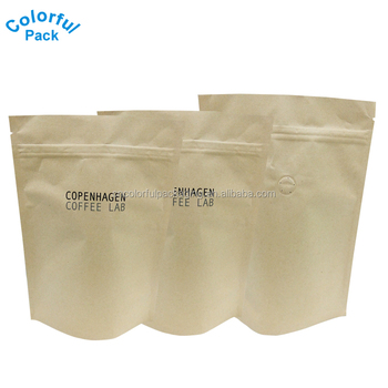 Stand Up Matte Pure Aluminum Foil Coffee Tea Bags Pouch With Valve Ziplock Mylar