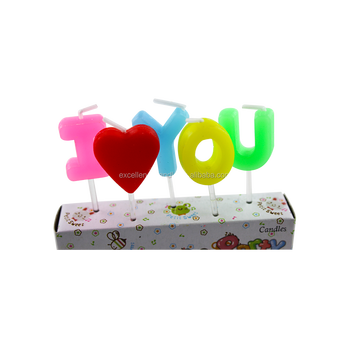 Top Selling Special I LOVE YOU Shape Letter Candle Design with good quality