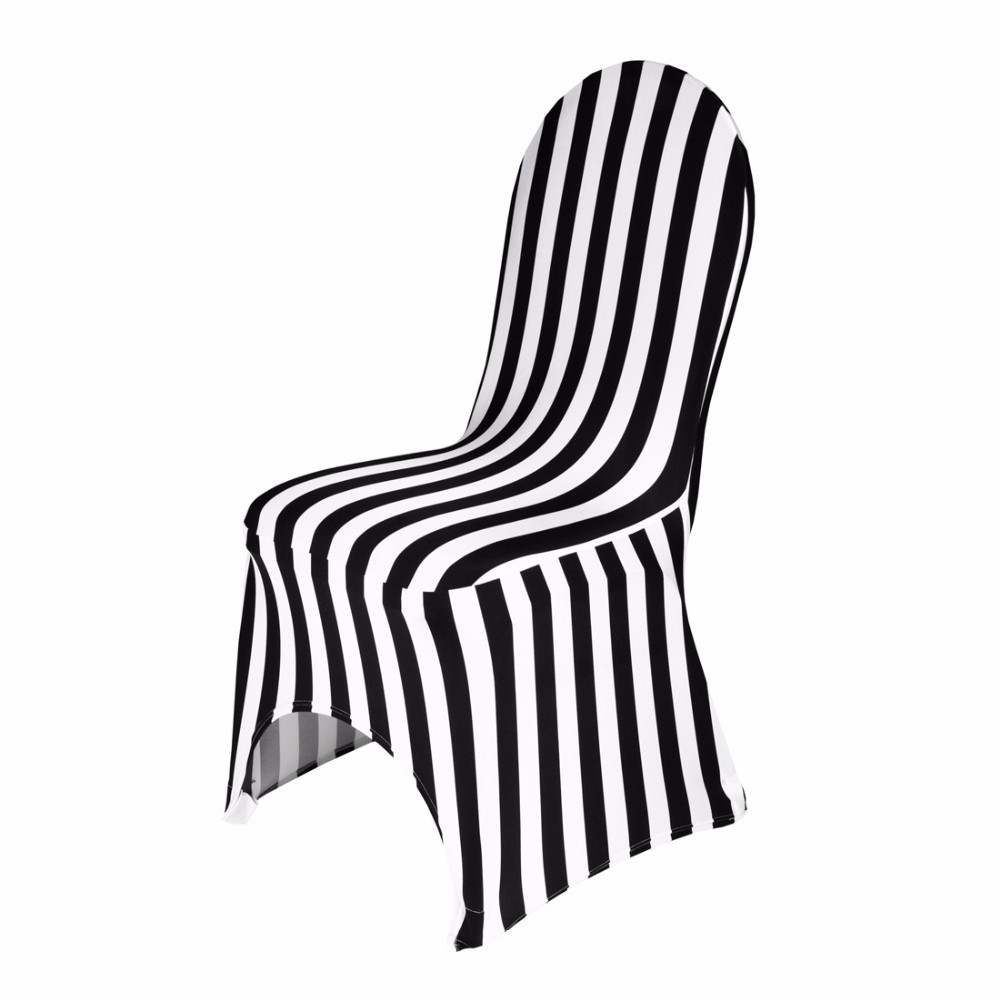 black and white Stretch Banquet Chair Cover
