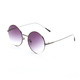 FONHCOO CE Uv400 Fashion Round Frame Thin Temple Metal Sunglasses