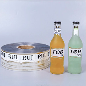Colored printed Good price bottle sticker logo label roll