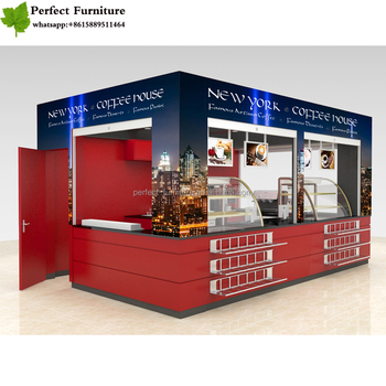 3d Design Coffee Shop Kiosk Fast Food Kiosk Cake Showcase Price With Food  Restaurant Furniture Booth Seating - Buy Coffee Shop Kiosk,Fast Food