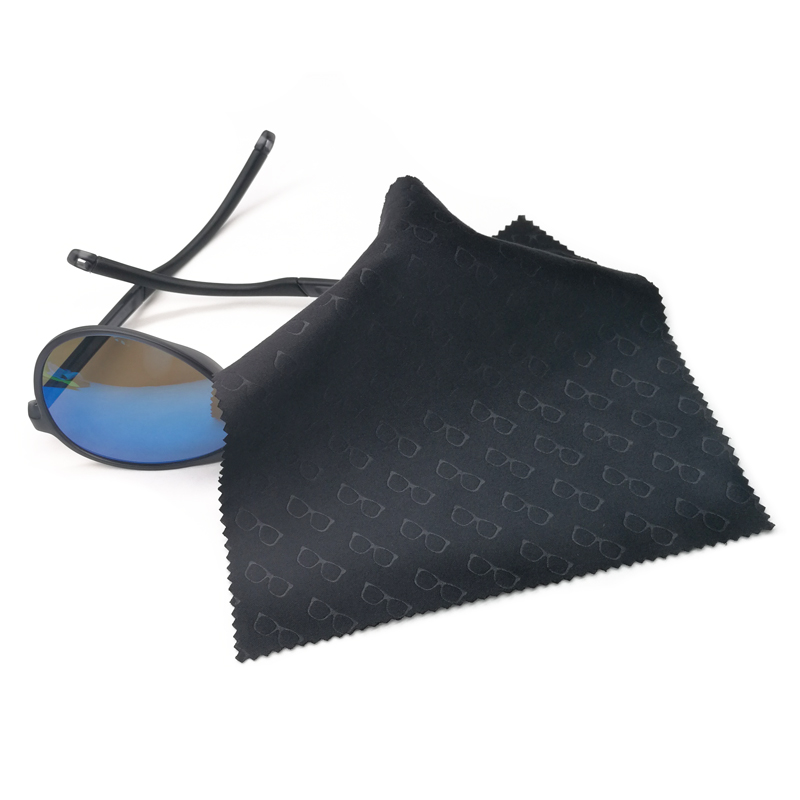 Custom Microfiber Logo Embossed Glasses Cleaning Cloth