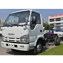 High quality Isuzu NKR chassis cargo truck with single row for sale