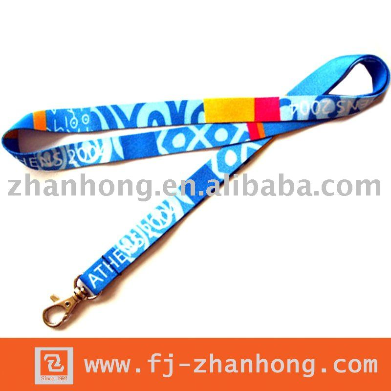 custom heat transferred CMYK printing lanyard for key no minimum order