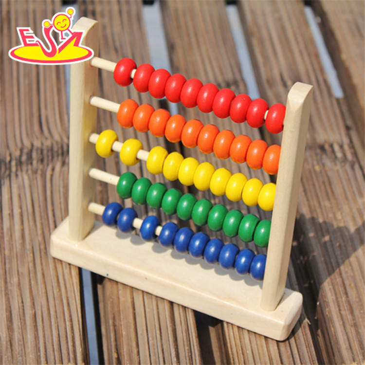 2017 wholesale educational wooden abacus toys for babies new design wooden abacus toys for babies best kids abacus toys W12A027