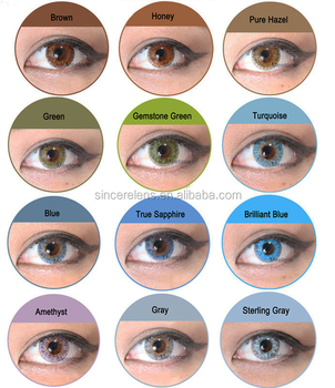Meetone-fv ] 12 Colors 3 Tone Colored Contacts Cheap Fresh Color ...