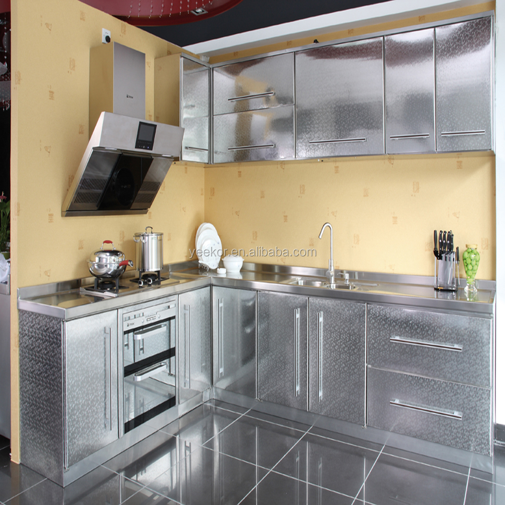 Hot Sell Stainless Steel And Aluminum Kitchen Cabinet Directly From