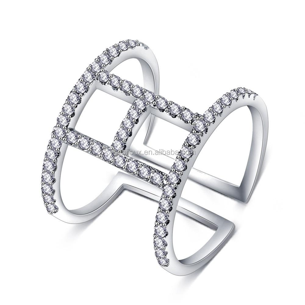 0fc71155 Красное золото палец кольцо из розового золота ювелирные изделия латунь  Bijoux CZ Кольцо