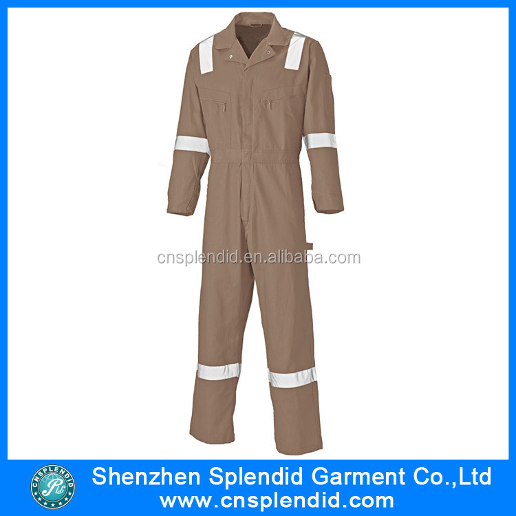 China Factory Wholesale Cheap Work Tan Coveralls For Adult