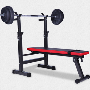 Incline Multi-Function Weightlifting Gym Exercise Workout Flat Ab Bench Press Bench With Squat Stand And Lifting Barbell Rest