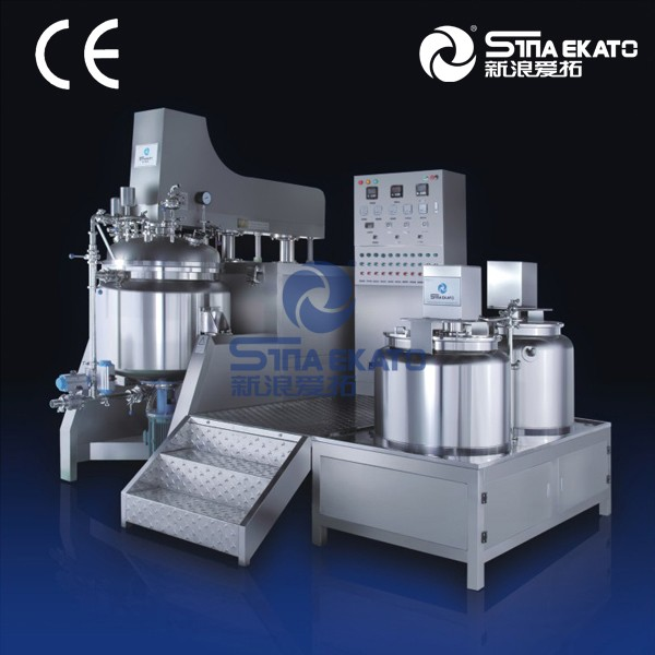 Sina Ekato product: high shearing emulsion adopt three layers vacuum mixer for cheese, sauce, mayonnaise, etc