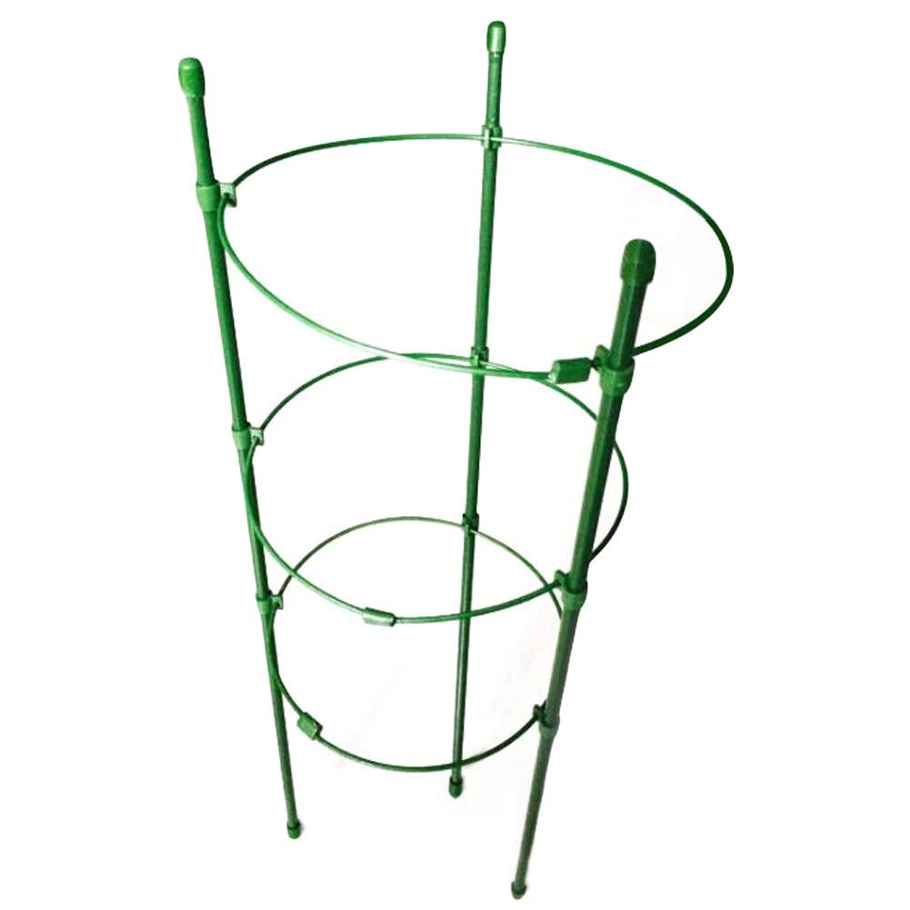 """Garden Plant Supports Rings Mini Trellies Flower Plants Support Potted Climbing Plants with 5.5"""" Dia x 6.3"""" Dia x 7.1"""" Dia x 17.7"""" H, 3 Rings for Plant"""
