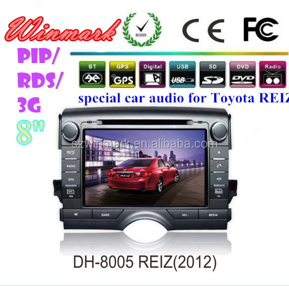 8'' special GPS <strong>car</strong> GPS for <strong>Toyota</strong> Reiz 2012 USB SD bluetooth ipod touch screen DH8005