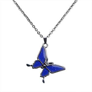 Changing Color Jewelry Butterfly Pendant Personalized Mood Necklace